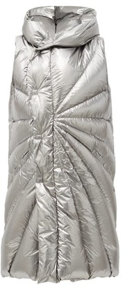 Moncler + Rick Owens Porterville Hooded Padded Down Gilet - Silver