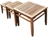 Asstd National Brand Teak 3-pc. Outdoor Nesting Table Set