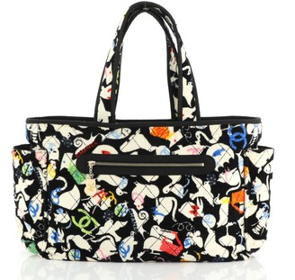 Chanel Beach Tote Quilted Printed Terry Cloth Large