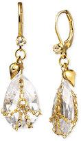 Betsey Johnson Teardrop Crystal Earrings