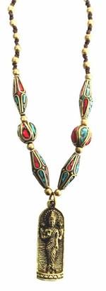 Saraswati Unisex Brass Pendant Necklace - FM366