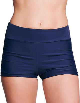 Mazu Swimwear Women's Board Shorts NAVY - Navy Boyshort Bikini Bottoms - Women