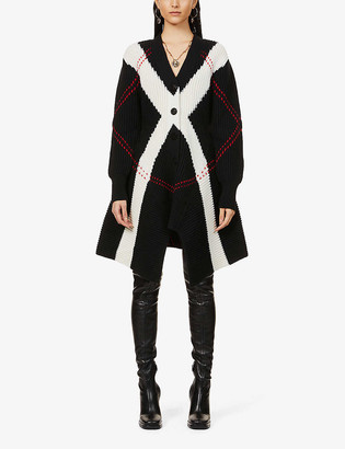 Alexander McQueen Embroidered wool and cashmere-blend cardigan
