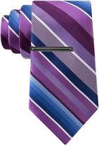 Van Heusen Flex Satin Weft Stripe Tie - Slim