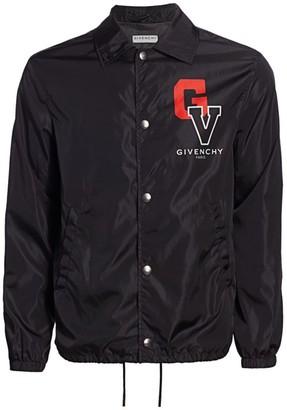 Givenchy Logo Nylon Coach Jacket