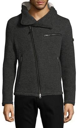 Jet Lag Faux Fur Lined Knit Jacket