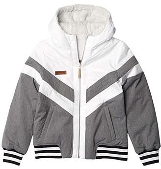 Obermeyer Reversible Insulator Jacket (Big Kids) (White) Girl's Jacket