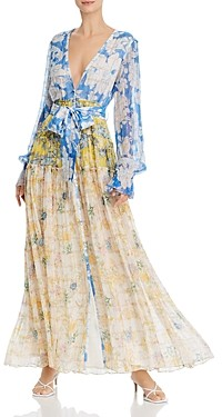 Rococo Sand Mixed Print Belted Dress