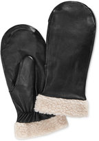 Charter Club Faux Sherpa-Trimmed Leather Mittens, Only at Macy's