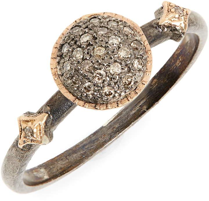 Armenta New World Pave Diamond Circle Ring