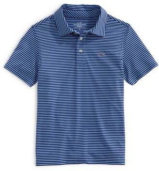 Vineyard Vines Kids' Bradley Stripe Stretch Polo Shirt