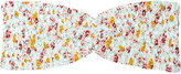 Tori Praver Betty floral-print smocked bandeau bikini top
