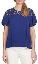 CeCe Floral Lace Knit Top
