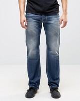 Diesel Larkee Straight Fit Jeans 0859Y Dark Wash Abraisons