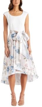 R & M Richards Petite Printed High-Low Dress