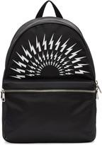 Neil Barrett Black Thunderbolt Backpack