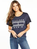 Tommy Hilfiger Short Sleeve Logo T-Shirt - Total Eclipse