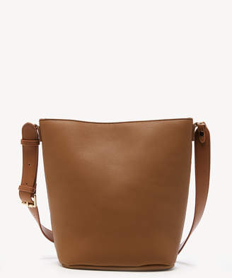 Sole Society Women's Simone Shoulder Vegan Leather Cognac One Size From
