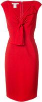 Oscar de la Renta bow embellished knee length dress