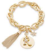 RJ Graziano R Initial Chain-Link Charm Bracelet