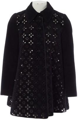 Huishan Zhang Black Wool Coat for Women