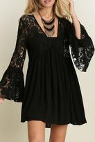 Umgee USA V Neck Peasant Dress