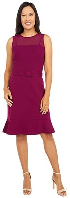 Lauren Ralph Lauren Corbin Sleeveless Day Dress (Exotic Ruby) Women's Dress