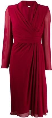 Max Mara V-Neck Wrapped Dress
