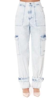 MSGM Light Denim Washed Jeans
