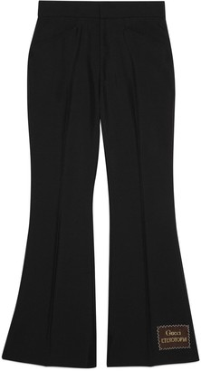 Gucci Wool mohair flare trousers with Eterotopia
