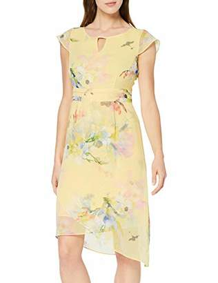 Comma Women's 81.904.82.8213 Dress, Multicolour Inkjet Flower 13c3, 8 (Size: 34)
