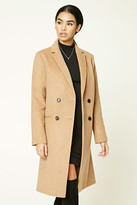 Forever 21 FOREVER 21+ Double-Breasted Wool Blend Coat