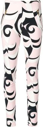Emilio Pucci Fortuna Print Zipped Pocket Leggings