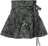 Marc Jacobs paisley print flared mini skirt - women - Cotton - 25