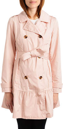 Kate Spade Flounce Double-Breasted Trench Coat