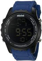 UNLISTED WATCHES Men's 'Sport' Quartz Metal and Silicone Casual Watch, Color:Blue (Model: 10030902)