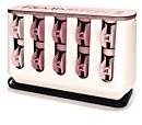 Remington Pro Series H9100P T Studio Thermaluxe Ceramic Hair Setter, with 2x Ceramic & Bonus Sectioning Clips, Hair Rollers, 1-1 1⁄4 Inch, Blush Pink