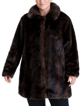Anne Klein Plus Size Faux-Fur Coat