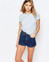 Jack Wills Stripe Top With Pleat Back Detail
