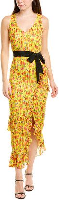 Saloni Rosalind Silk-Blend Maxi Dress