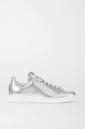 adidas Stan Smith Metallic Coated-canvas Sneakers - Silver