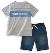 Calvin Klein T-Shirt and Terry Shorts Set