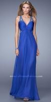 La Femme Knotted Jeweled Bodice Prom Dress