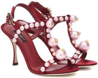 Dolce & Gabbana Keira satin sandals