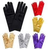 Seven & Nine Service Satin Gloves Wrist Length for Ladies