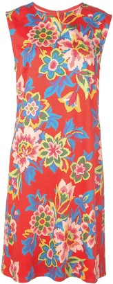 Carolina Herrera pixelated floral print dress