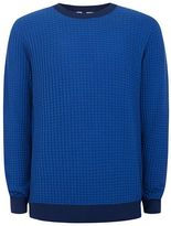 Topman Blue Scale Textured Sweater