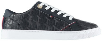 Tommy Hilfiger Jacquard Logo Leather Trainers