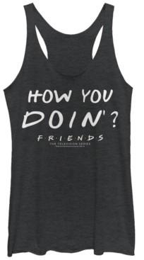 Fifth Sun Friends Joey Tribbiani How You Doin Quote Tri-Blend Women's Racerback Tank
