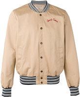 MAISON KITSUNÉ rear embroidered bomber jacket